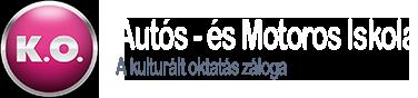 K.O. Autós- és Motoros Iskola Logo